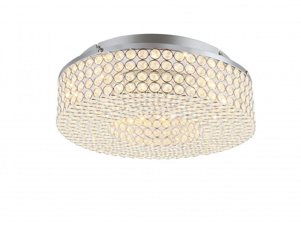 Globo LED Deckenlampe Deckenleuchte Kristalle Wohnzimmerlampe Lampe ...