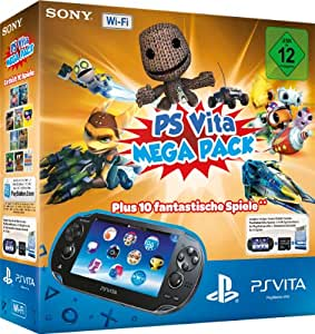 playstation vita wi fi inkl ps vita mega pack 1 amazon. Black Bedroom Furniture Sets. Home Design Ideas