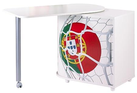 Simmob COOL100BL966 Coppa del Mondo Portogallo Pallone 966 scrivania girevole in legno, colore: bianco, dimensioni: 55 x 105 x 74,7 cm