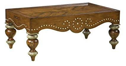 Accents Rectangular Coffee Table with Nailhead Details