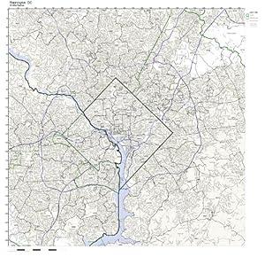 Washington DC ZIP Code Map Laminated