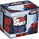 Disney Spider-Man Ceramic Coffee Mug Set, 250ml, Set Of 3, Multicolour
