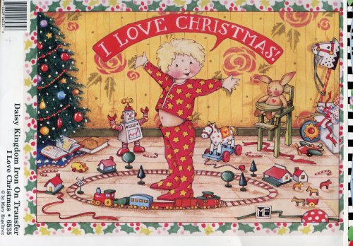 Daisy Kingdom Mary Engelbreit I Love Christmas Iron-On Transfer
