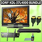 Sony Bravia L-Series KDL-37L4000 37-inch 720P LCD HDTV + Sony DVD Player w/ Wall Mount Accessory Kit