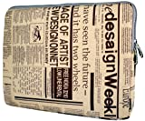 13 inch Newspaper Pattern Notebook Laptop Sleeve Bag Carrying Pouch Case for most of Apple Macbook, Acer, ASUS, Dell, HP, Sony