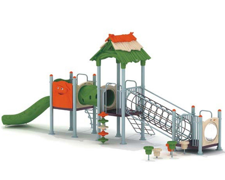 Spielturm MODUS II mit Kletterröhre, Rutsche, Leiter und Dach - für öffentliche Spielplätze & Einrichtungen