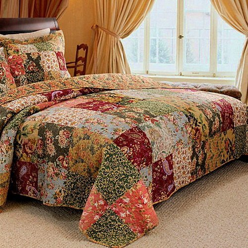 Buy French Country Patchwork Quilted Bedspread Set