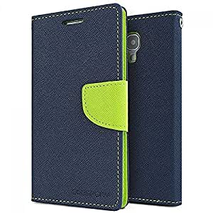 Aart Fancy Diary Card Wallet Flip Case Back Cover For Mircomax A210 - (Blue) + USB Bracelet Cable with Charging and Sync for all smart phones by Aart Store.