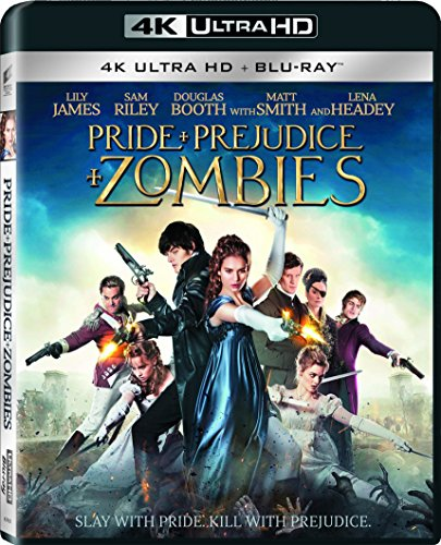 4K Blu-ray : Pride and Prejudice and Zombies (With Blu-Ray, Ultraviolet Digital Copy, 2 Pack, Dolby, AC-3)