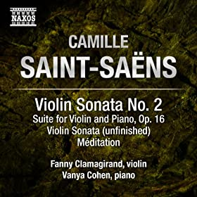 Saint-Sa�ns: Music for Violin and Piano, Vol. 2