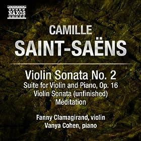 Saint-Sa�ns: Music for Violin and Piano, Vol. 2