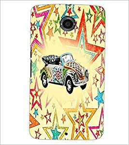 PrintDhaba Car D-5600 Back Case Cover for MOTOROLA GOOGLE NEXUS 6 (Multi-Coloured)