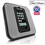 GOgroove MOVE Sleek Portable and Wall Mountable SonusMAX Speaker System for Apple iPhone and iPod - Works for all generation iPods / iPhone 3 , 3GS , 4 , 4S ~ Accessory Power