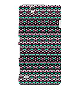 Colourful Pattern 3D Hard Polycarbonate Designer Back Case Cover for Sony Xperia C4 Dual :: Sony Xperia C4 Dual E5333 E5343 E5363