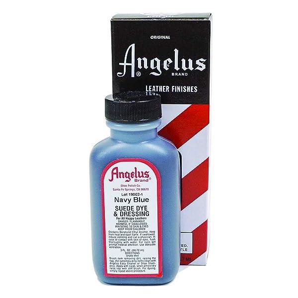 Angelus Suede Dye 3 Oz. (Navy Blue) (Color: Navy, Tamaño: 3 Ounces)