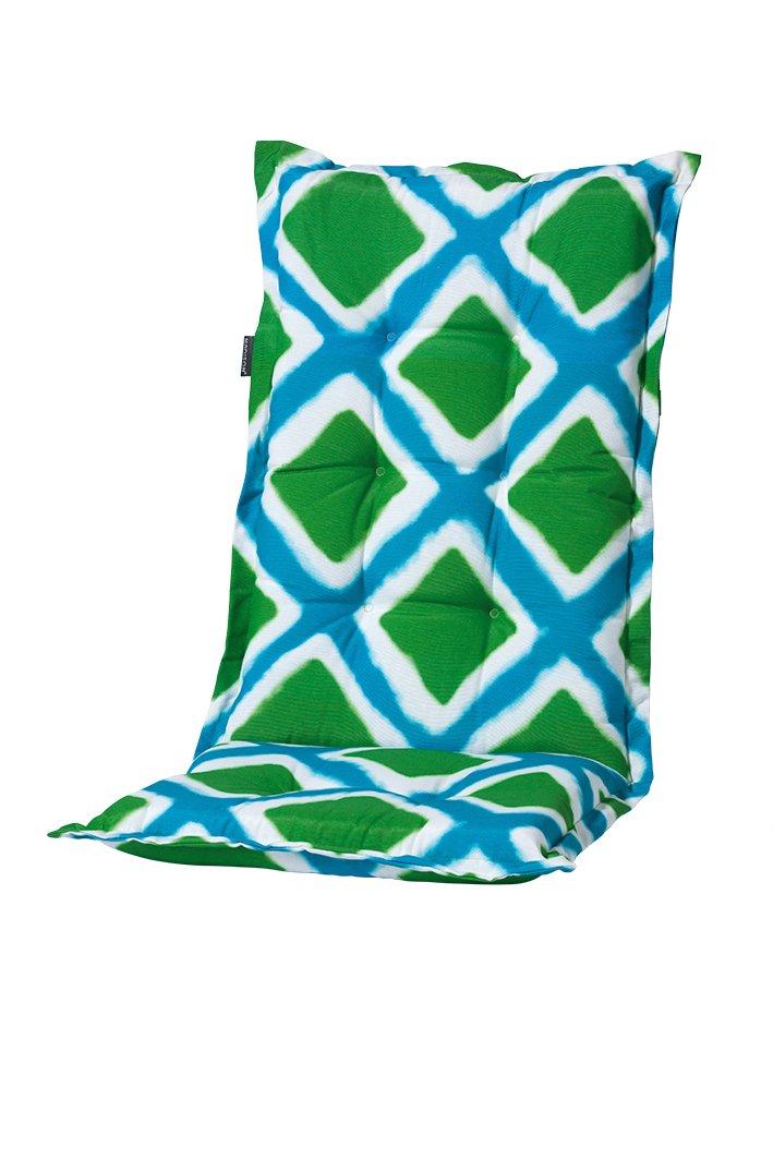 8 cm Luxus Hochlehner Auflage C 342, grün blau kariert jetzt kaufen