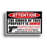 Second 2nd Amendment Handgun Pistol Warning Decal Sticker Gun