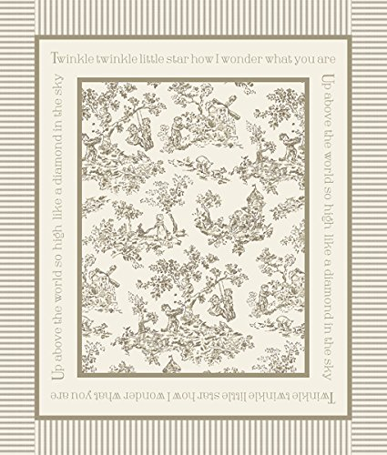 """Nursery Rhyme Toile 43/44"""" Wide 100% Cotton D/R-Toile Panel-Beige front-82846"""