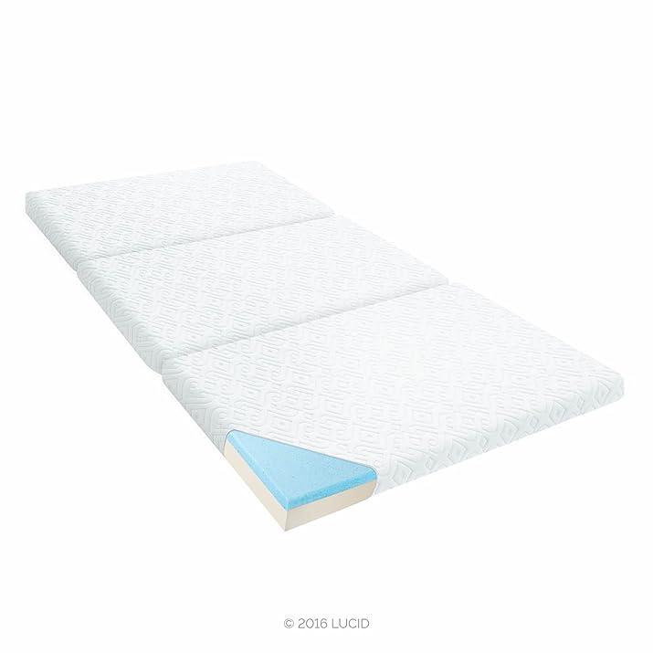 "Lucid 3"" pieghevole portatile materasso in Memory Foam Bianco"