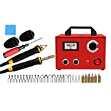 TOPCHANCES Wood Pyrography Kit, 110V 100W Upgrade Multifunction Pyrography Machine Variable Temperature Control Digital Display Wooden Crafts Set with 2 Pcs Pyrography Pens and 2Pcs Pen Stands (Color: Pyrography Kit)
