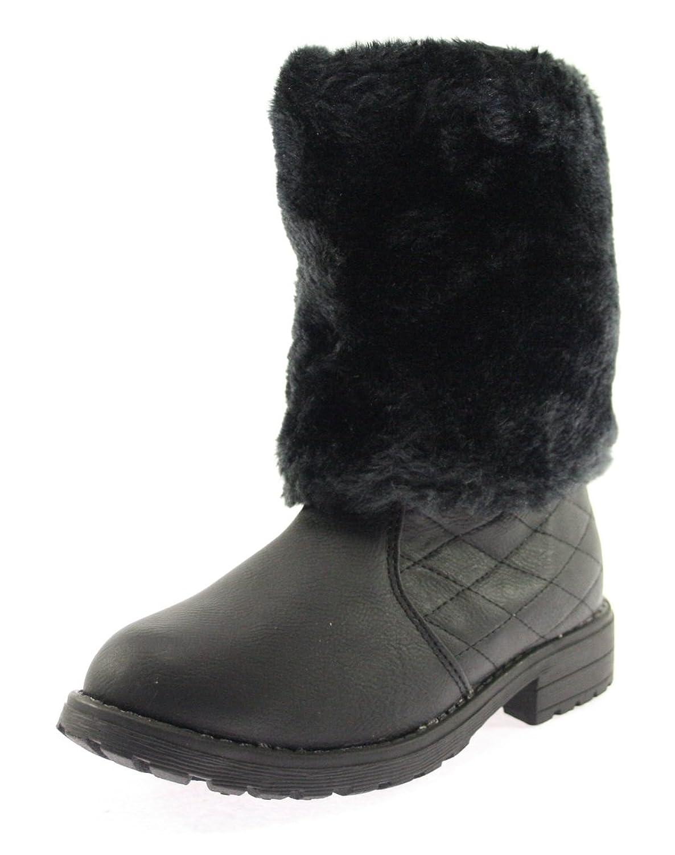 Winterstiefeletten Mädchen Farbe Schwarz mit seitlichem Reißverschluss günstig bestellen