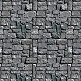 Stone Wall Backdrop Party Accessory (1 count) (1 Pkg)