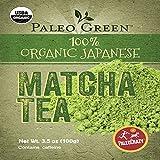 PaleoCrazy Organic Matcha Powder Japanese Tea for Energy, Focus and Weight Loss
