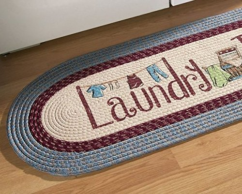 Good Night Braided Laundry Room Decorative Runner Rug 20