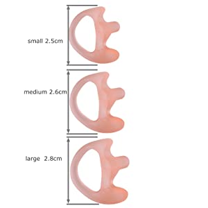 KEYBLU Universal Replacement Soft Silicone Open Ear Insert Earmould for Two Way Radio Coil Tube Audio Kits UV-5R UV-B6 BF-888S UV-B5 (Carnation, 5 Pair Small) (Color: carnation, Tamaño: 5 pair small)