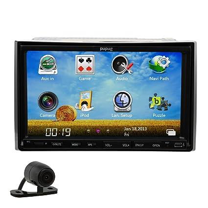 En Dash Deux Double Din 7 pouces Lecteur DVD de voiture Radio Audio StšŠršŠo Bluetooth moniteur tactile avec lecteur DVD / CD / MP3 / MP4 / USB / SD HD: 800 * 480 + camšŠra de recul