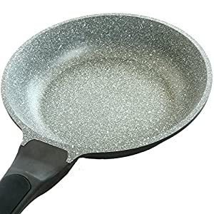 "Sear/Stone Non-Stick Pan With Lid ~ The Best Nonstick Pans Sear & Clean Easily - Dishwasher Safe/Green/Earth Friendly Natural Marble Stone Ceramic Coating ~ 10"" Steaming Lid Included"