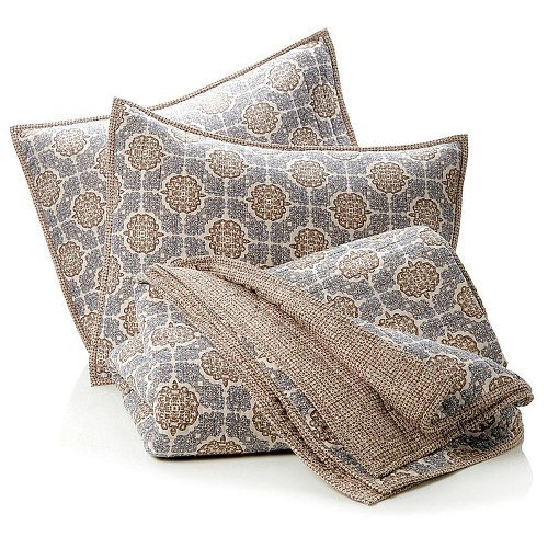 Full/Queen - India Hicks Exotic Coconut 100% Cotton 3-Piece Coverlet Set front-997879