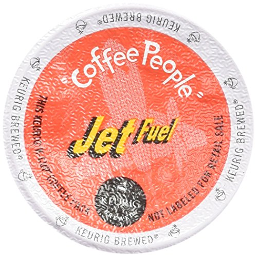 Coffee People Dark Roast, Jet Fuel, K-Cup Portion Pack for Keurig Brewers 24-Count (Fuel Coffee compare prices)
