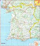 Michelin Regional Wall Map of Portugal - South & Algarve (a - Encapsulated in Gloss Plastic)