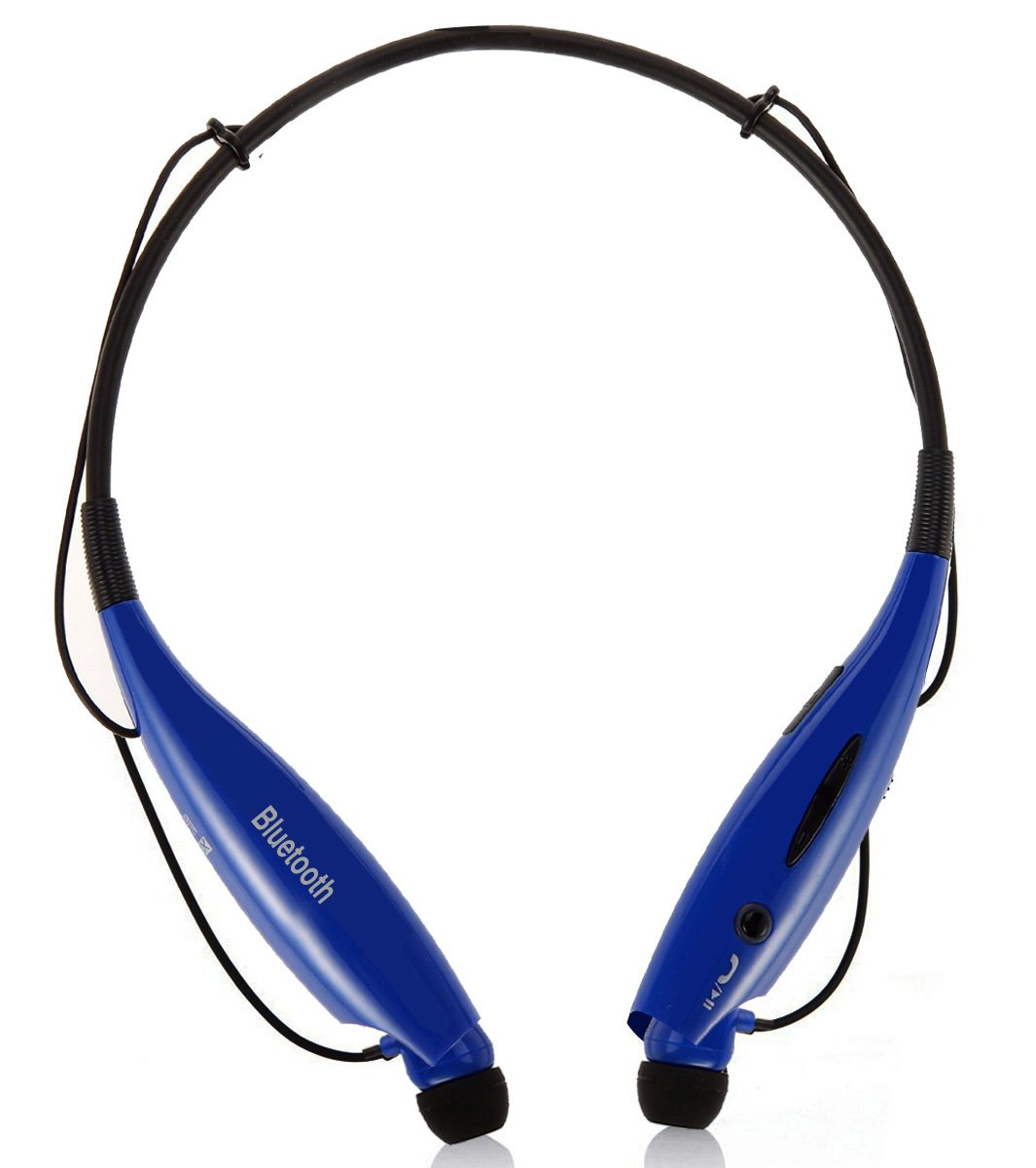 Universal Bluetooth Neckband Headphones S Gear -HV-Digitial 800 Wireless Headset Sweatproof Running Gym Exercise Stereo Earphones Noise Cancelling Earbuds Cordless DARKBLUE