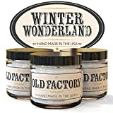 "Scented, Natural Soy Wax Candles. Burns Clean, Even, and True-To-Scent for Hours. Perfect as a gift, or for your own home. Hand-poured in the USA. ""WINTER WONDERLAND"" themed gift set of 3 different 2 ounce candles. Includes Hot Cocoa, Roasted Chestnut, First Snow."
