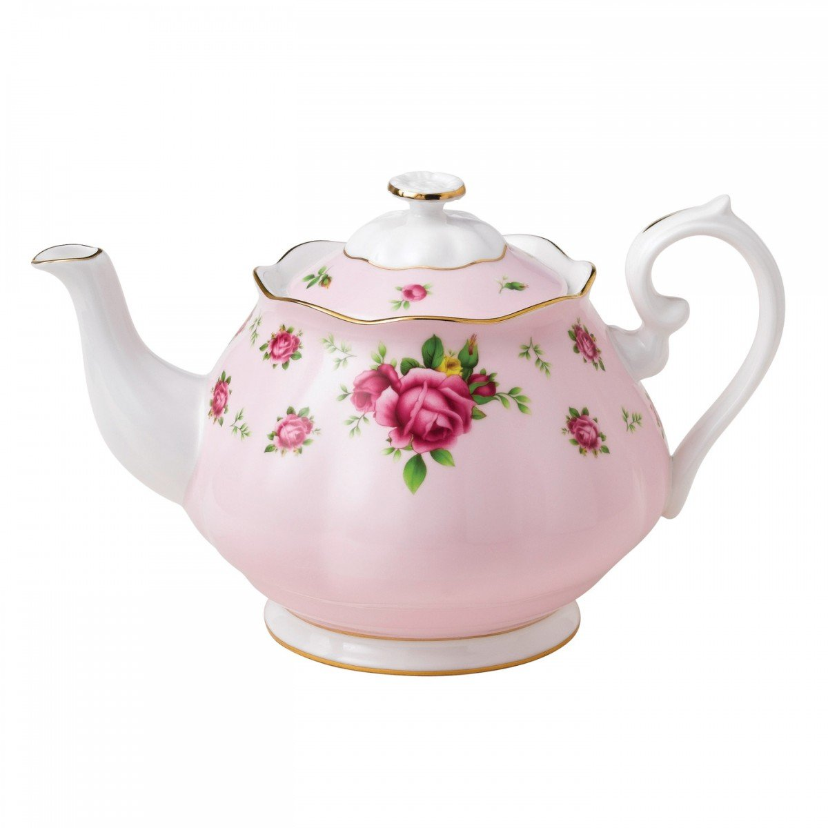 Royal Albert New Country Roses Formal Vintage Teapot, White/Pink 0