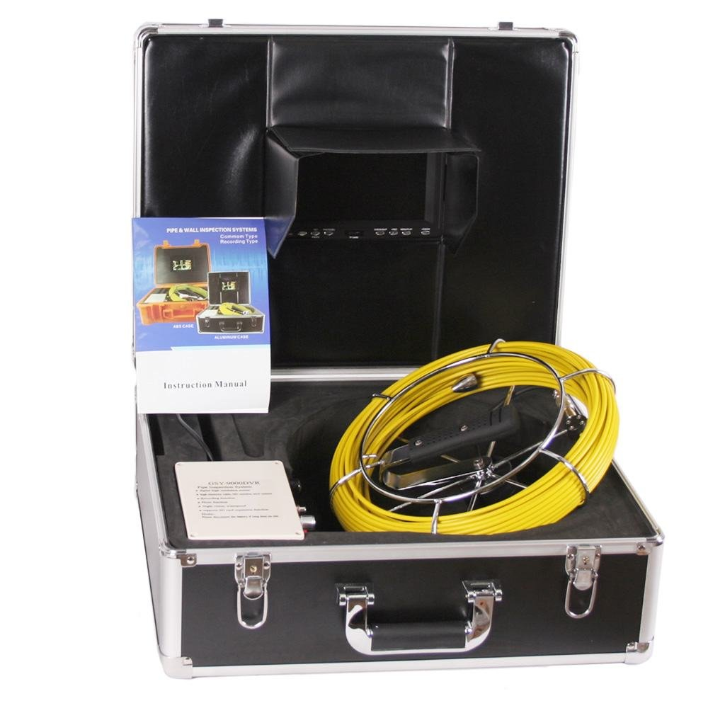 "Anysun Drain Pipe Sewer Video Inspection Camera Sony CCD 7""Color LCD Monitor DVR Recorder DVR 30 meters /100foot 4GB TF Endoscopy Video Snake Camera"