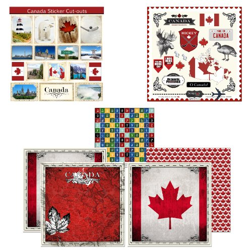 Scrapbook Customs Themed Paper and Stickers Scrapbook Kit, Canada Sightseeing Picture