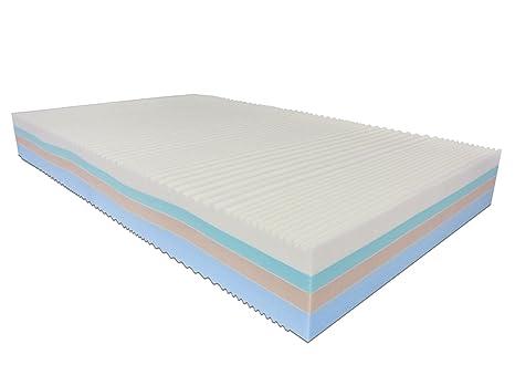 Baldiflex Matelas français Memory Foam 4couches arc-en-ciel plus 140x 195cm–Silver Safe Cus. Savon incl.