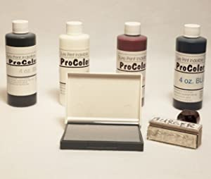 Fabric Permanent Ink | Indelible Ink | 4oz (INCLUDES FREE DRY PAD) (Color: black, white, blue, red)