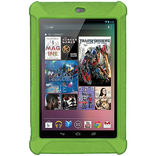 Imagen de Amzer AMZ94386 silicona caso Jelly Soft Skin Fit for Asus Nexus 7, Google Nexus 7 - 1 Pack - empaquetado al por menor - Green