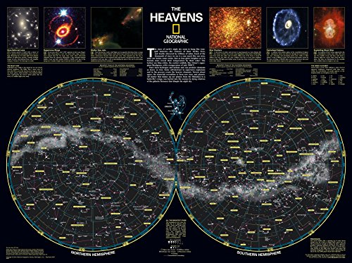 National Geographic The Heavens Poster 31 x 23in (Constellation Chart compare prices)