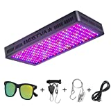 BESTVA DC Series 3000W LED Grow Light Full Spectrum Grow Lamp for Greenhouse Hydroponic Indoor Plants Veg and Flower (Color: Black, Tamaño: 3000W)