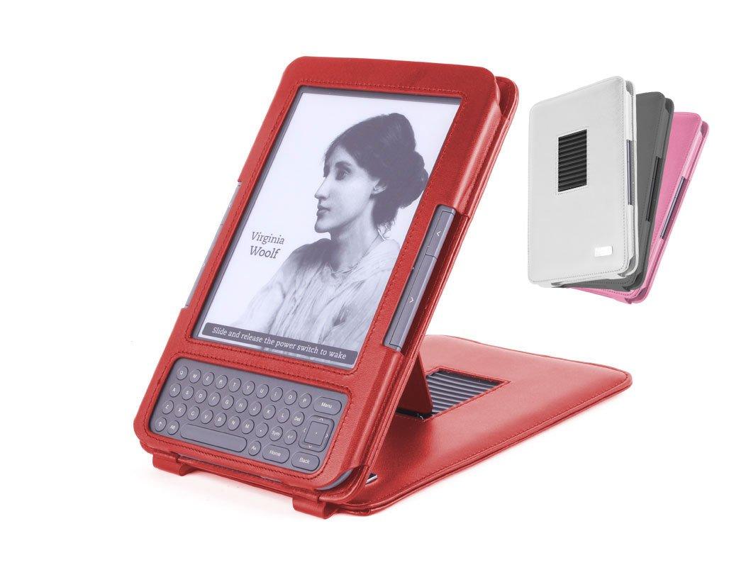 DURAGADGET Custodia Rossa in vera pelle / Cover con supporto regolabile per Amazon Kindle  Electrónica Comentarios y más información