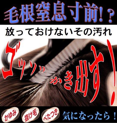 頭皮毛根ハブラシ 【15ミクロンの極細毛先】 毛根の汚れをかき出す極細洗髪ブラシ!