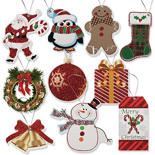 100 Pack of Large Christmas Gift Tags! 10 Assorted Designs!