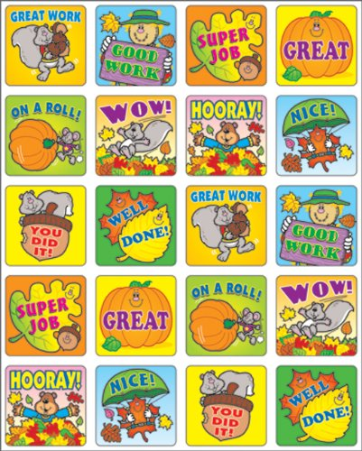 Carson Dellosa Fall Fun Motivational Stickers (0613)