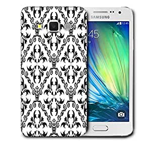Snoogg Grey Pattern Printed Protective Phone Back Case Cover For Samsung Galaxy A3