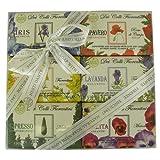 Flower Theme Gift Set of 6 Floral Soaps, Italian Vegetable Bar Soap